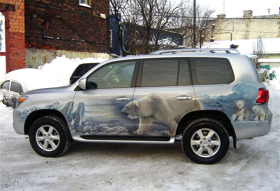 аэрография на белых авто